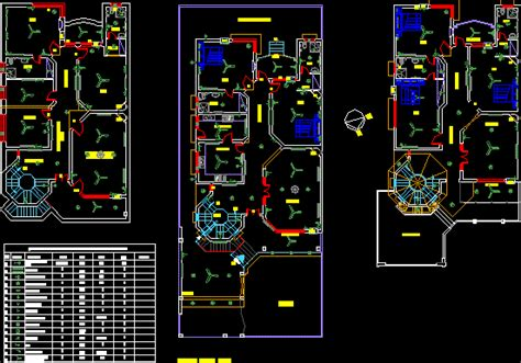 Housing Electric Project Autocad Cad