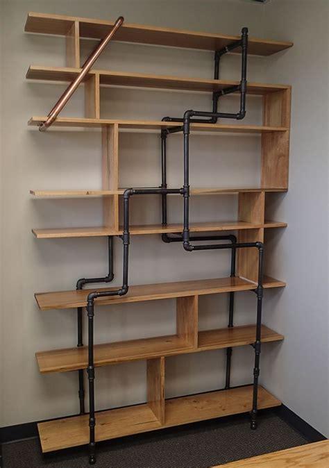 office bookshelf    poplar boards   black