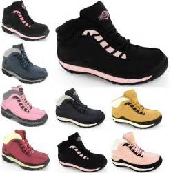 womens work boots steel toe cap safety work hiking leather trainers boots size 5 10 ebay