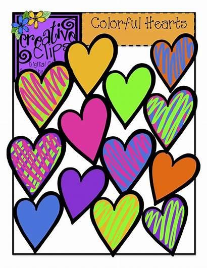 Clip Hearts Colorful Clipart Creative Clips Heart