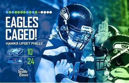 Seahawks Eagles Seattle Wake Sports Wilson Grounding