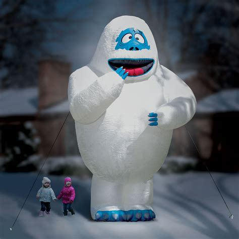 ft inflatable bumble  snow monster hammacher