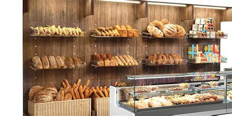 wall mounted display rack     ifi baked goods wooden panel