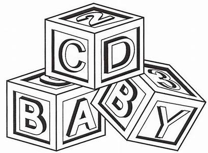 Blocks Clipart Abc Coloring Drawing Pages Simple