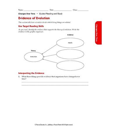 evidence of evolution worksheet lesupercoin printables