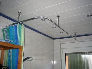 Duschvorhang Befestigung über Eck : duschstange l form f r dusche badewanne oder ~ A.2002-acura-tl-radio.info Haus und Dekorationen