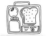 Coloring Colouring Pages Lunchbox Healthy Lunch Box Printables Sheets Template Sketch sketch template