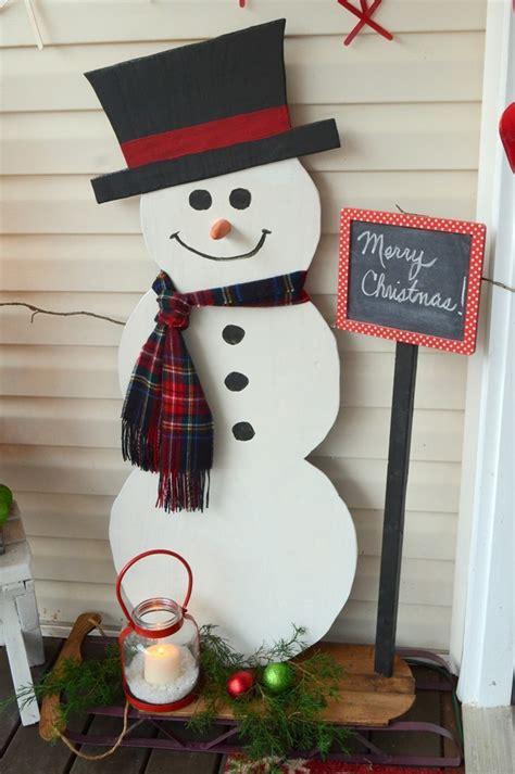 wobbly snowman christmas decorations ideas