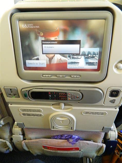 siege a380 avis du vol emirates dubai en economique