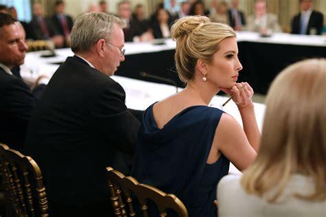 ivanka trump sits  donald trumps place   meeting