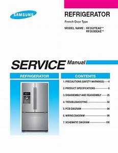 Samsung Rf263beae Repair Service Manual User Guides