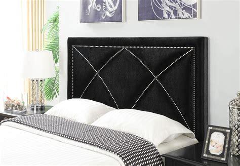 velvet black king upholstered headboard from pulaski ds