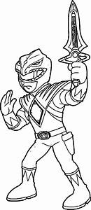 Power Rangers Green Ranger Coloring Page | Wecoloringpage