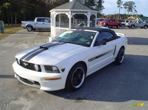 white ford mustang convertible 2008 performance white ford mustang gt cs california