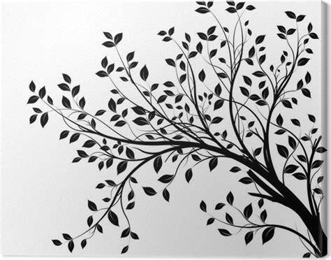 tableau sur toile des branches darbre silhouette fond