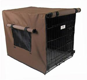 chocolate brown waterproof dog crate covers With waterproof dog kennel cover