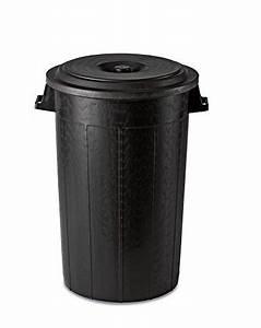 Kunststofftonne Mit Deckel : gartentonne abfalltonne aus kunststoff in schwarz mit deckel mit 100 liter volumen ma e 52 ~ Yasmunasinghe.com Haus und Dekorationen