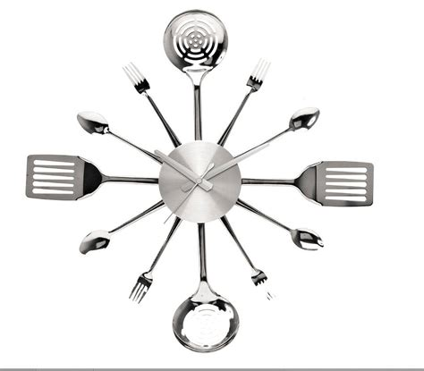 horloge cuisine vintage kitchen utensil wall clock by thelittleboysroom