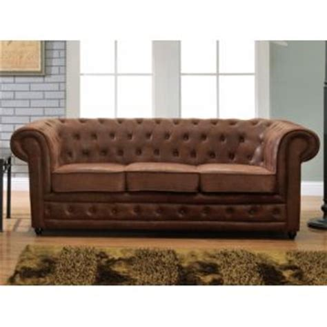 canapé convertible aspect cuir vieilli canape chesterfield comparer 731 offres