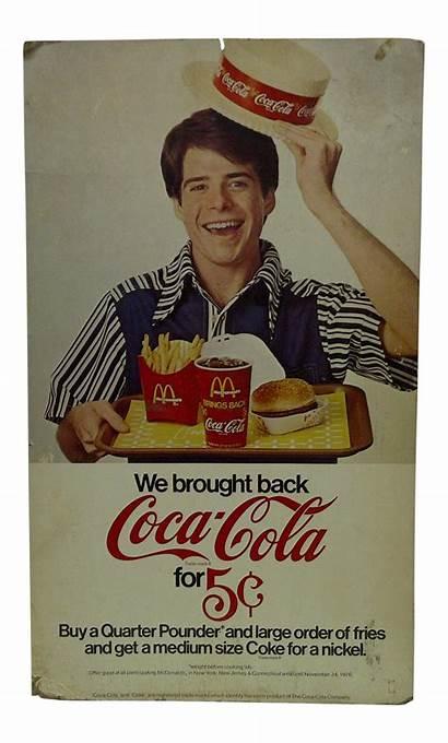 Mcdonalds Cola Coca Advertising Signs Chairish
