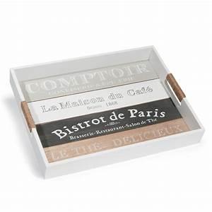 Plateau Maison Du Monde : plateau en bois 30 x 40 cm comptoir de paris maisons du monde ~ Preciouscoupons.com Idées de Décoration