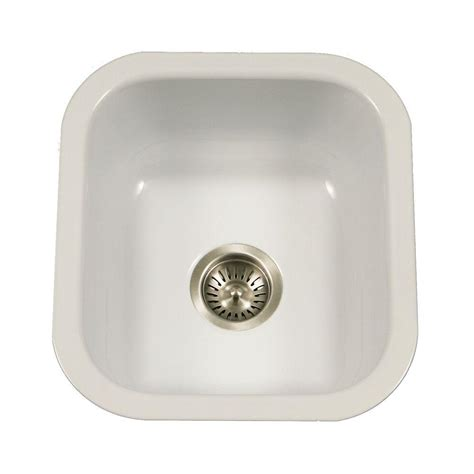 porcelain undermount kitchen sink houzer porcela series undermount porcelain enamel steel 16