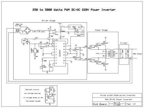 inverter 5000w with pwm pulse width modulator power