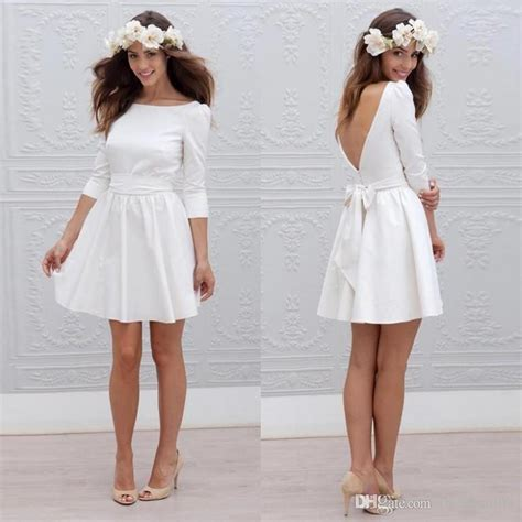 discount  informal short wedding dresses