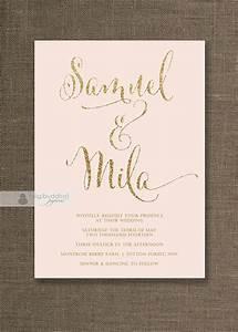 gold wedding invitations wedding ideas chwv With pink and gold wedding invitations uk