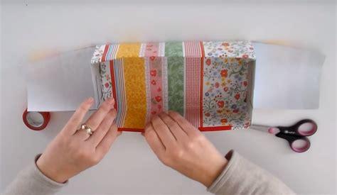 que faire avec une boite de mouchoir vide p 226 ques fabriquez un joli panier pour vos enfants dans