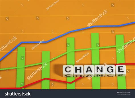 Business Term With Climbing Chart Graph Change Stock