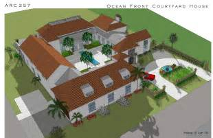 courtyard style house plans large home plans designed by arcadia design oceanfront courtyard house cocoa us