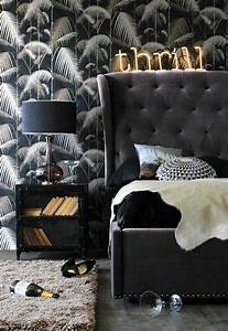 Papier Peint Rayé Noir Et Blanc : 1001 mod les de papier peint tropical et exotique ~ Preciouscoupons.com Idées de Décoration