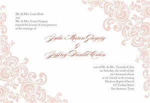baby pink wedding invitation template word document with With wedding invitations indesign template free