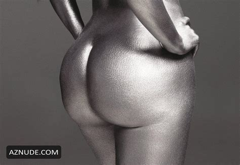 Kim Kardashian Nude In Silver Body Aznude