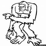 Coloring Yeti Bigfoot Dibujos Printable Pinta Sus Sasquatch Colouring Abominable Popular Jumping sketch template