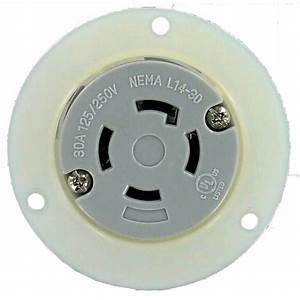 Nema L14 250v 3 Pole 4 Wire Flanged Outlet Culus L14