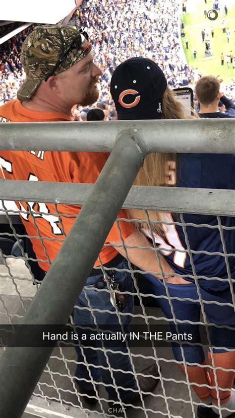 chicago bears fan caught digging   wifes pants