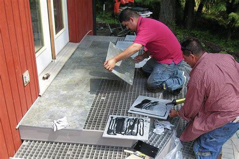 tiling a deck professional deck builder hardscape