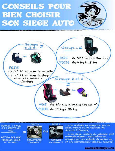 siege auto comment choisir choisir siège auto infographie la vie des triplés