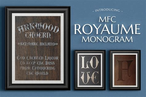 mfc royaume monogram blackletter fonts creative market
