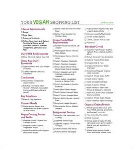 Vegan Shopping List Template