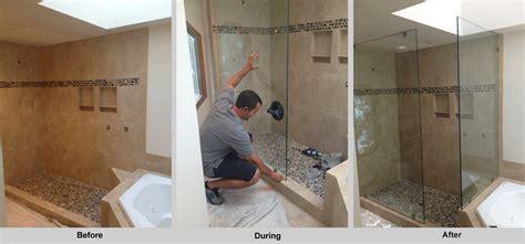 shower door installation frameless glass shower doors