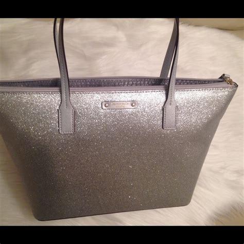 kate spade bags silver glitter tote poshmark