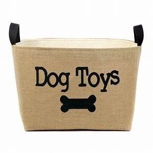 dog toys burlap basket joss main With dog toy basket