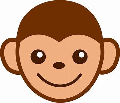 Monkey Clip Clipart Face Funny Cartoon Clipartpanda