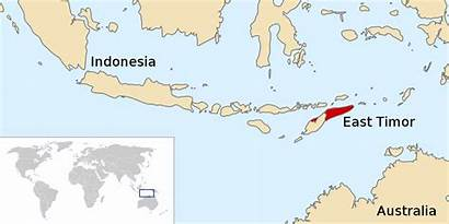 Timor East Australia Indonesia Map Indonesian Svg