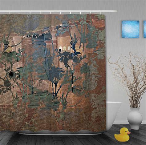 classic transparent flowers european style shower curtains