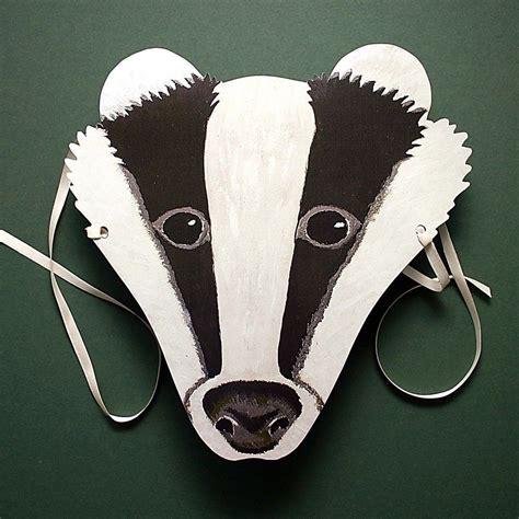 badger twins tiermasken basteln masken basteln und