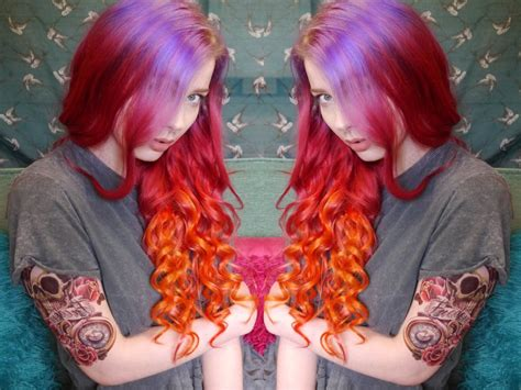 deep sunset ombre hair tutorial youtube